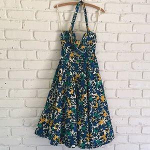 Anthropologie Girls from Savoy Floral Halter Dress